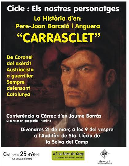Cartell xerrada Carrasclet